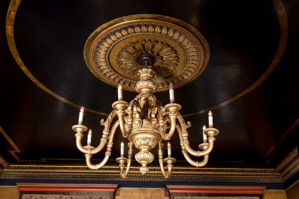 Fine gilded chandelier