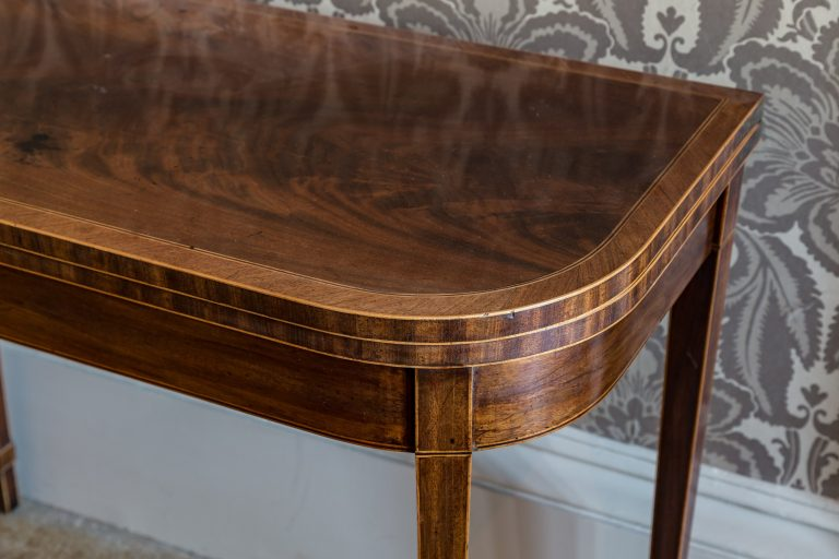 Lightly waxed polished Georgian card table