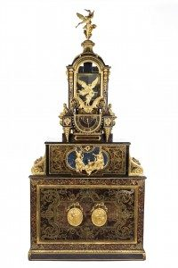 Boulle clock on Boulle cartonnier