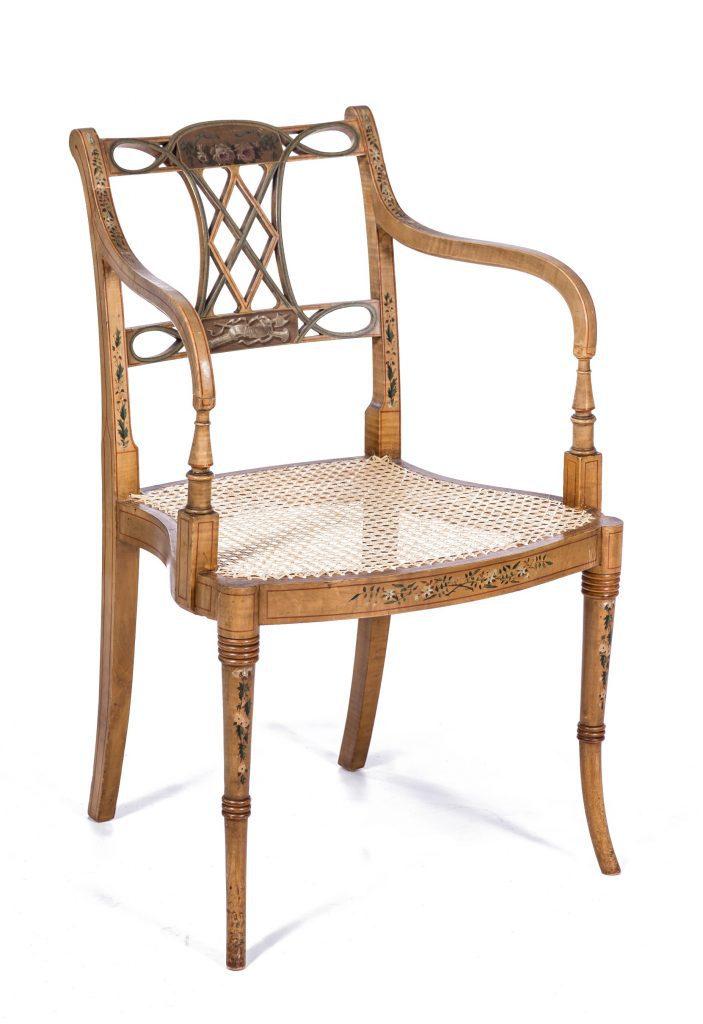 Re-caned seat, part of fine set. Corpus Christi College, Cambridge